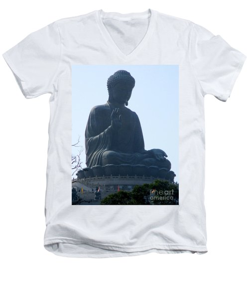 Men's V-Neck T-Shirt featuring the photograph Lantau Island 49 by Randall Weidner