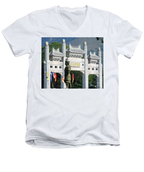 Men's V-Neck T-Shirt featuring the photograph Lantau Island 51 by Randall Weidner