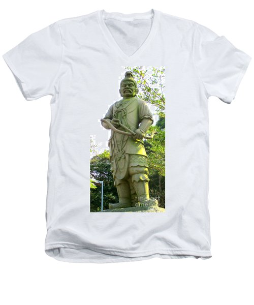 Men's V-Neck T-Shirt featuring the photograph Lantau Island 52 by Randall Weidner