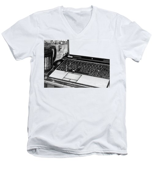 Laptop Men's V-Neck T-Shirt