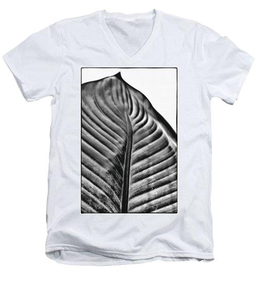 Large Leaf Men's V-Neck T-Shirt