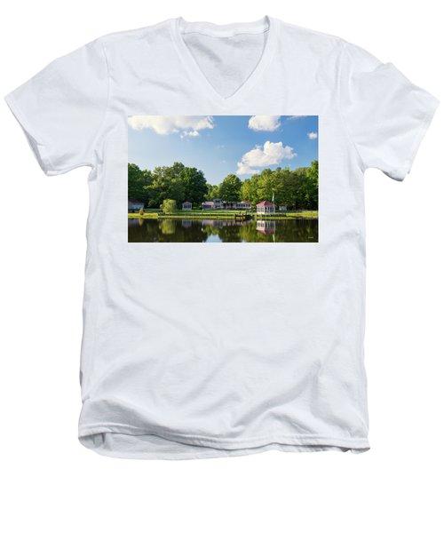 Larry Buckner - King George Men's V-Neck T-Shirt by Dana Sohr
