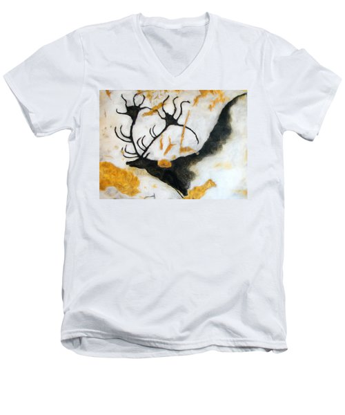 Lascaux Megaceros Deer 2 Men's V-Neck T-Shirt