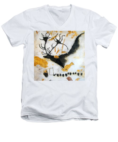 Lascaux Megaceros Deer Men's V-Neck T-Shirt