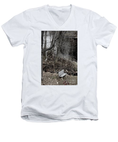 Men's V-Neck T-Shirt featuring the photograph Last Available Seating by Jesse Ciazza