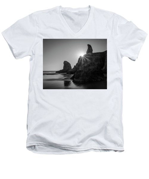 Last Light On The Coast Men's V-Neck T-Shirt