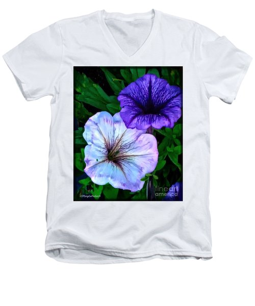 Last Of The Petunias   Men's V-Neck T-Shirt