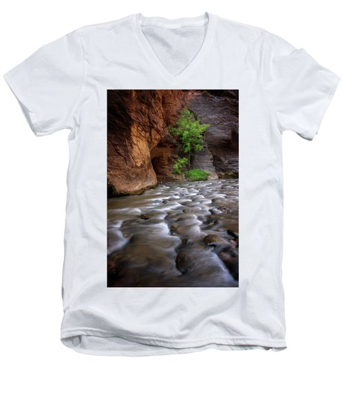 Men's V-Neck T-Shirt featuring the photograph Last Stand by Dustin LeFevre