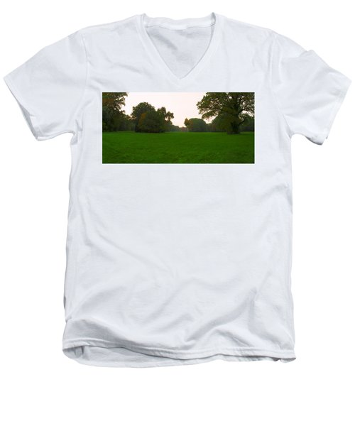 Late Afternoon In The Park Men's V-Neck T-Shirt