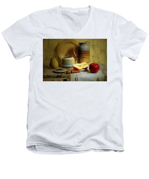 Men's V-Neck T-Shirt featuring the photograph Late Day Break by Diana Angstadt