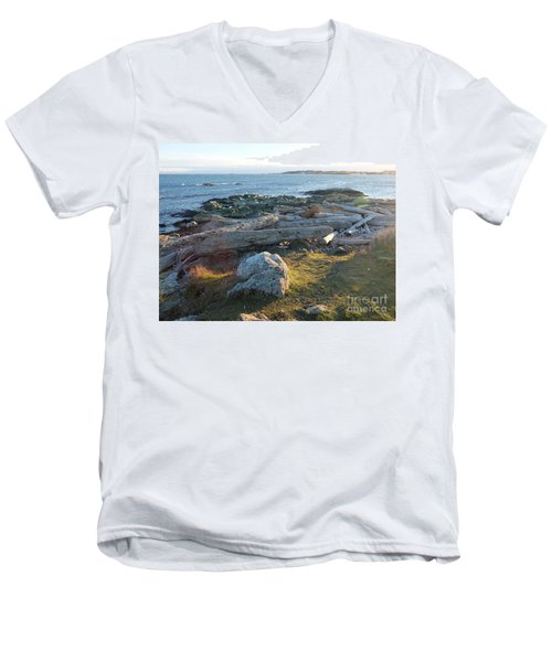 Late In The Day Men's V-Neck T-Shirt
