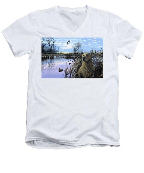 Late Season Mallards Men's V-Neck T-Shirt