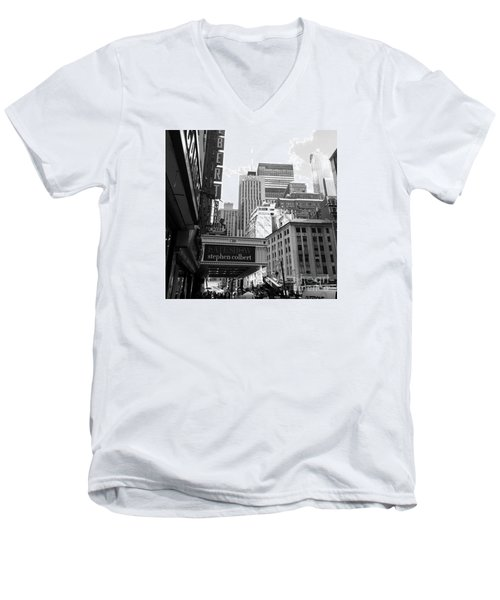 Late Show Nyc Men's V-Neck T-Shirt by Shelley Overton