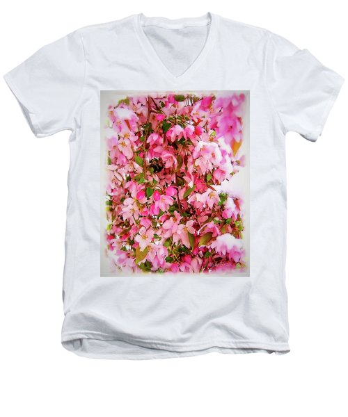Late Snow Early Flowers Men's V-Neck T-Shirt