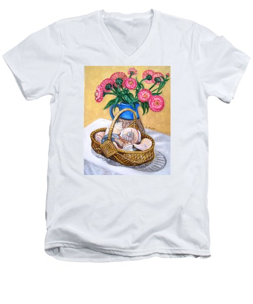 Late Summer Men's V-Neck T-Shirt by Laura Aceto