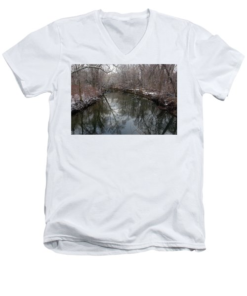 Men's V-Neck T-Shirt featuring the photograph Late Winter In Philly by Dorin Adrian Berbier