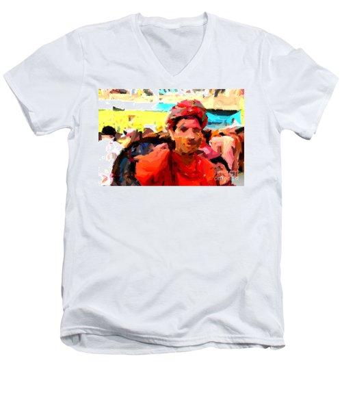 Lathmaar Holi Of Barsana-1 Men's V-Neck T-Shirt