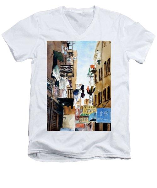 Laundry Day Men's V-Neck T-Shirt by Tom Simmons