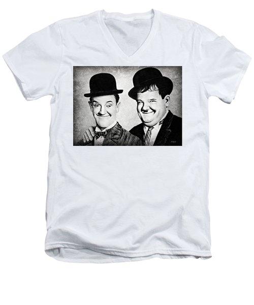 Laurel And Hardy My Pal Men's V-Neck T-Shirt