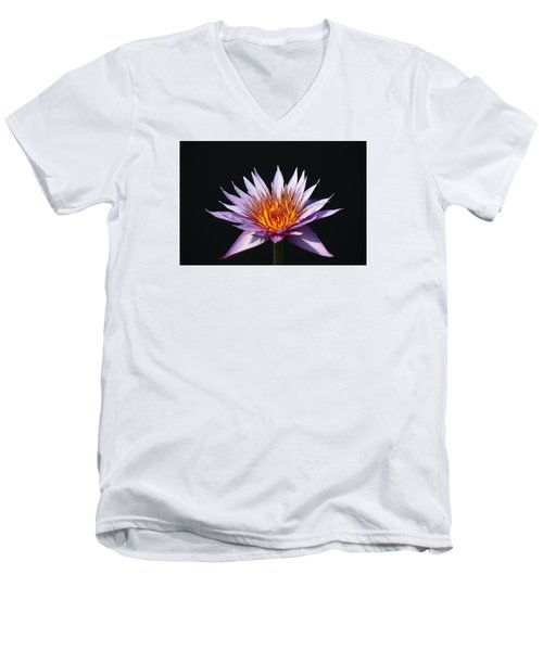 Lavender Fire 1 Men's V-Neck T-Shirt