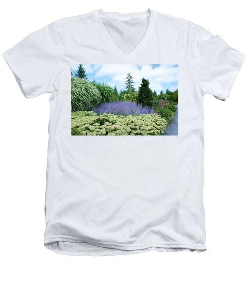 Lavender In The Middle Men's V-Neck T-Shirt