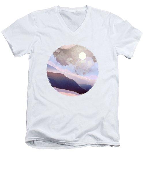 Lavender Night Men's V-Neck T-Shirt
