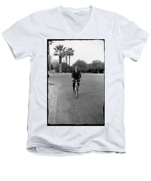 Lawyer On A Bicycle, 1971 Men's V-Neck T-Shirt