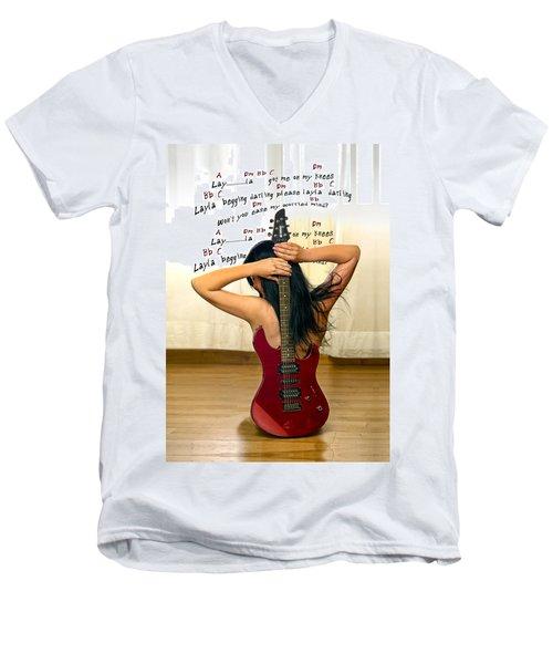 Layla Men's V-Neck T-Shirt by Donovan Torres