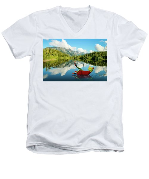 Men's V-Neck T-Shirt featuring the digital art Lazy Days by Nathan Wright