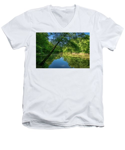 Lazy Summer Day On The River Men's V-Neck T-Shirt