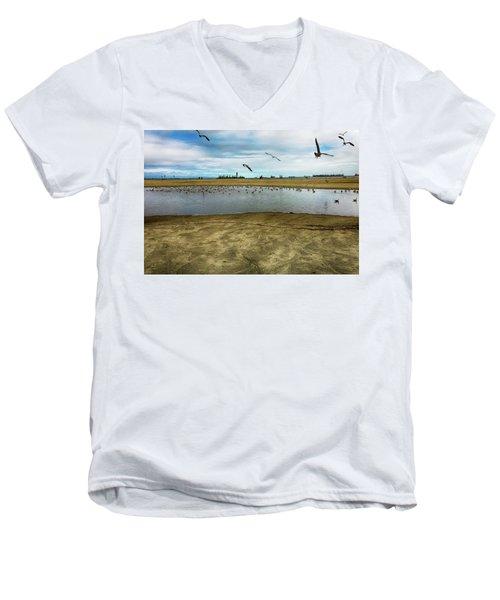 Lb Seagull Pond Men's V-Neck T-Shirt