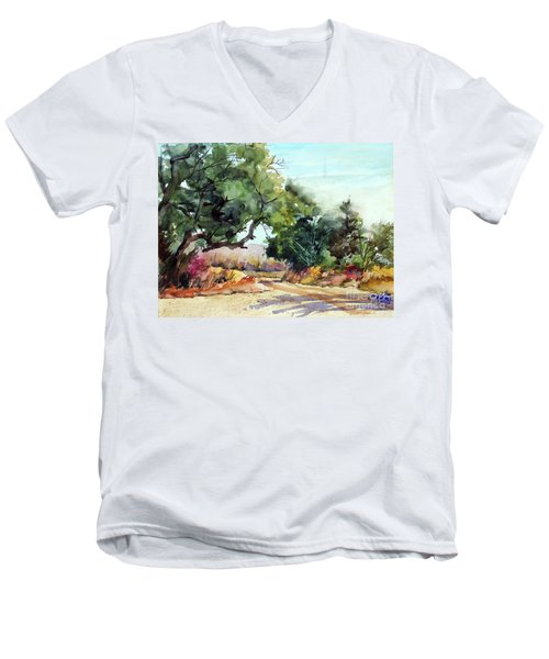 Lbj Grasslands Tx Men's V-Neck T-Shirt by Ron Stephens