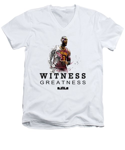 Lbj1 Men's V-Neck T-Shirt