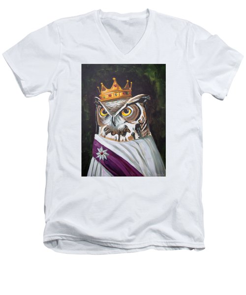 Le Royal Owl Men's V-Neck T-Shirt by Nathan Rhoads