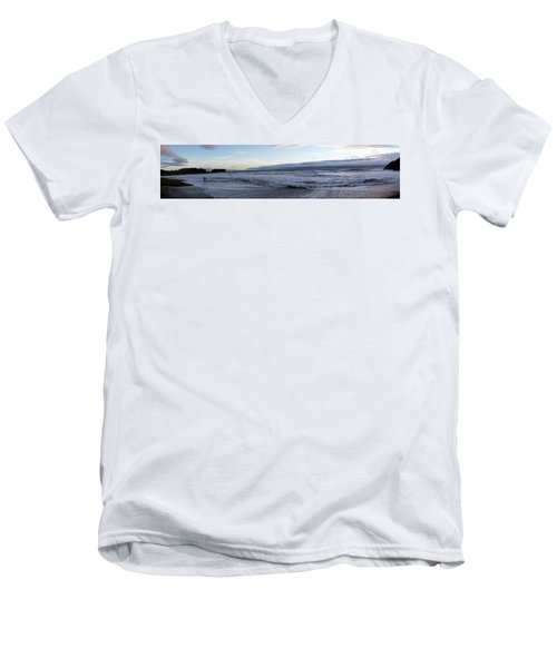 Leading Edge Men's V-Neck T-Shirt by Michael Courtney