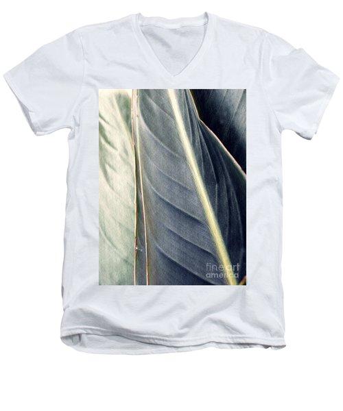 Leaf Abstract 14 Men's V-Neck T-Shirt