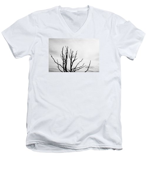 Leafless Tree Men's V-Neck T-Shirt