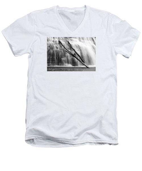 Leaning Falls Men's V-Neck T-Shirt