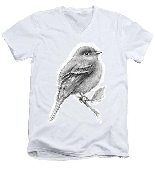 Least Flycatcher Men's V-Neck T-Shirt