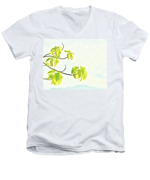 Leaves In The Sun Men's V-Neck T-Shirt by Craig Wood