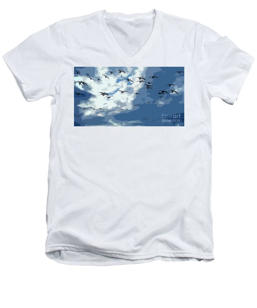 Leaving The Snow Behind Men's V-Neck T-Shirt