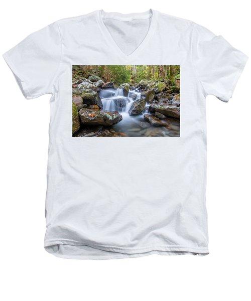 Leconte Creek Watrefall Men's V-Neck T-Shirt