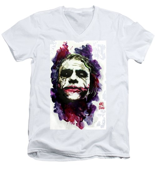 Ledgerjoker Men's V-Neck T-Shirt by Ken Meyer jr