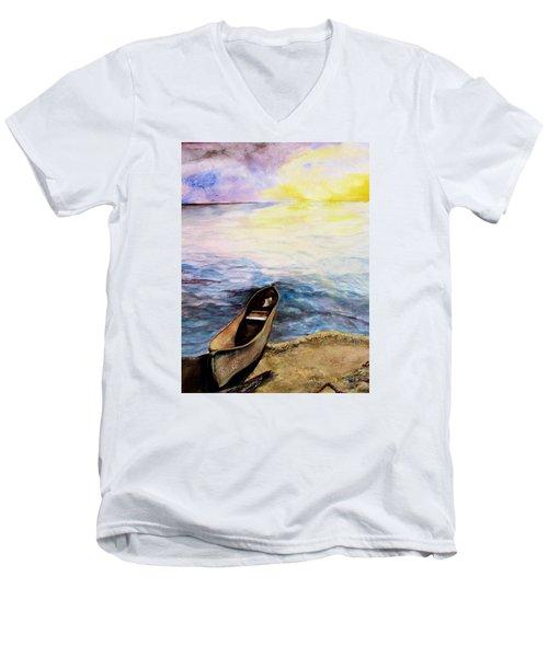 Left Alone Men's V-Neck T-Shirt by Lil Taylor