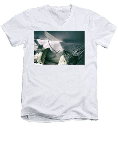 Leftover Light Men's V-Neck T-Shirt by Steven Huszar