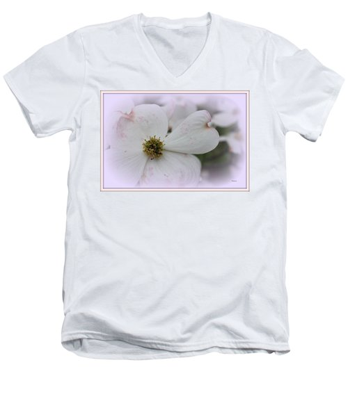Legend Of The Dogwood Men's V-Neck T-Shirt by Betty Northcutt