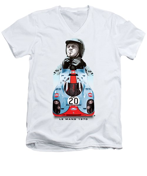 Lemans Racing Men's V-Neck T-Shirt