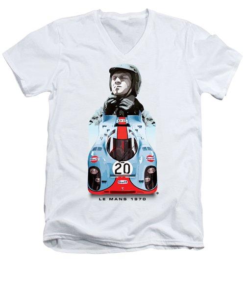 Lemans Racing Men's V-Neck T-Shirt