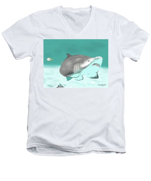 Lemon Shark Men's V-Neck T-Shirt