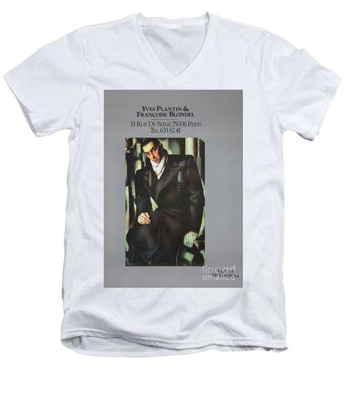 Lempicka #8716 Men's V-Neck T-Shirt